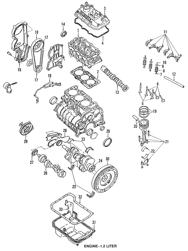 1987-1994 Subaru Justy Inner Timing Cover Seal 13587KA010