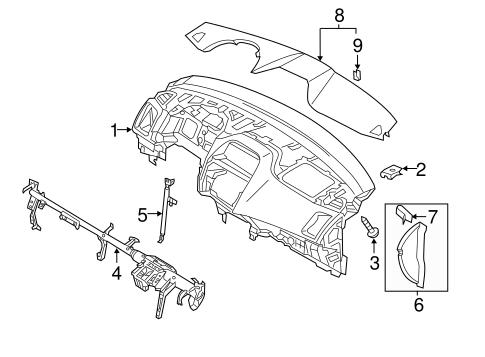 Instrument Panel for 2016 Mitsubishi Outlander Sport