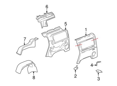 QUARTER PANEL & COMPONENTS Parts for 2003 Hummer H2