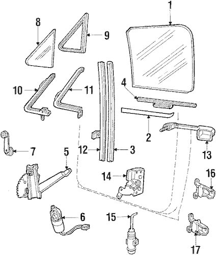 FRONT DOOR for 1986 Ford F-150