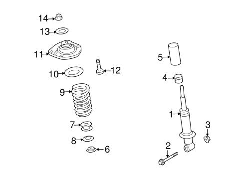 STRUTS & COMPONENTS Parts for 2009 Pontiac G8