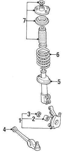SUSPENSION COMPONENTS for 1991 Saturn SL2