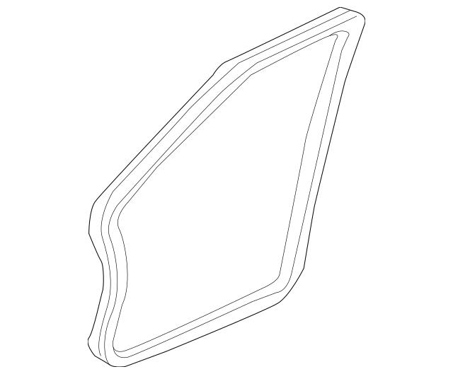 2004-2008 Acura TL SEDAN Seal L Front Dr*YR240L* 72355-SEP