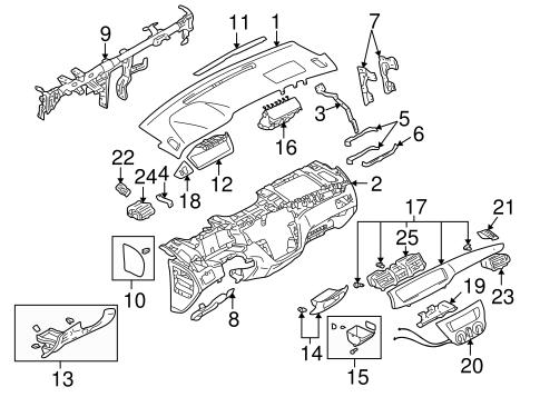 Instrument Panel for 2006 Mitsubishi Lancer Evolution MR