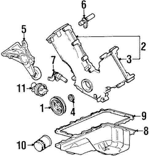 ENGINE PARTS for 1996 Lincoln Town Car