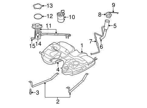 Fuel System Components for 2007 Chrysler Pacifica