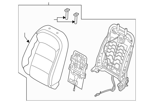 2017-2018 Kia Forte5 Seat Back Assembly 88300-A7IF0K4K
