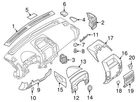 Instrument Panel Components for 2006 Infiniti QX56