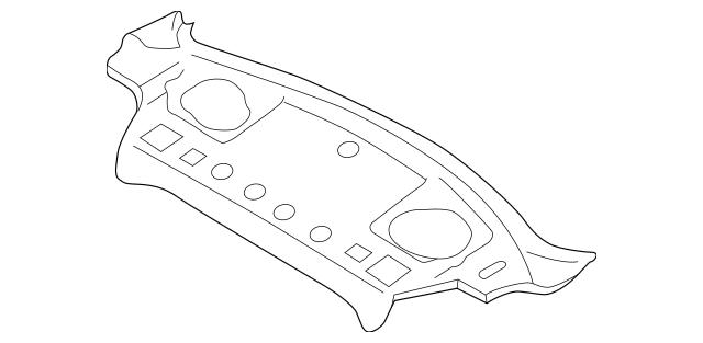 1993-2001 Subaru Impreza Pkg Tray Panel 53105FA020