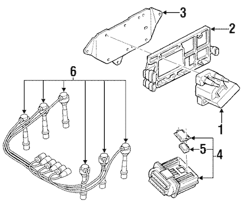 OEM IGNITION SYSTEM for 2002 Oldsmobile Silhouette