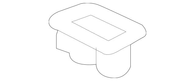 2004-2008 Acura TSX SEDAN Holder, Rear Armrest Cup *YR240L