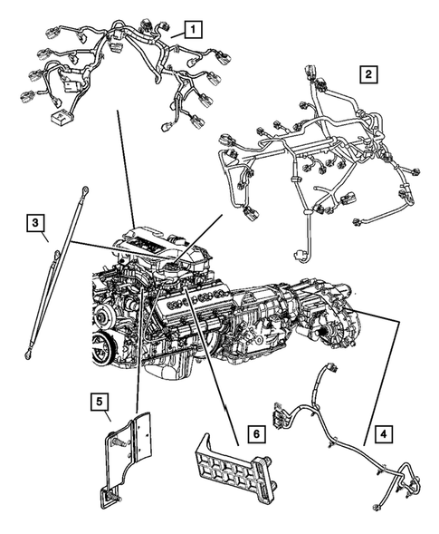 Wiring-Engine & Related Parts for 2005 Dodge Ram 2500