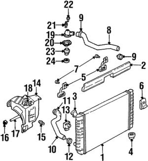 OEM RADIATOR & COMPONENTS for 1999 Chevrolet Lumina