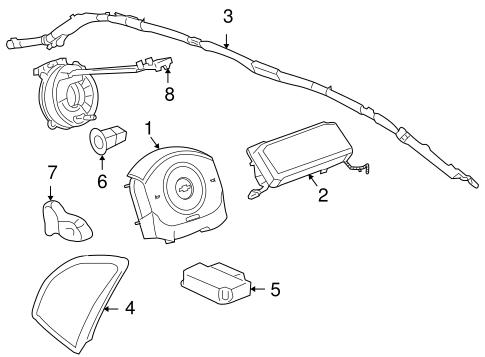 OEM 2006 Pontiac G6 Air Bag Components Parts