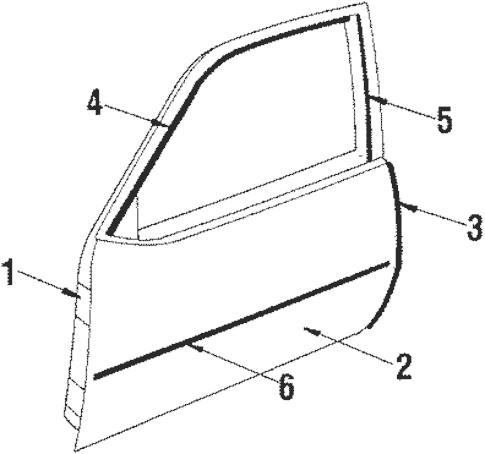 OEM Door & Components for 1985 Pontiac J2000 Sunbird