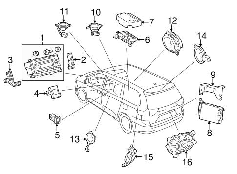 Genuine OEM Sound System Parts for 2013 Toyota Sienna SE