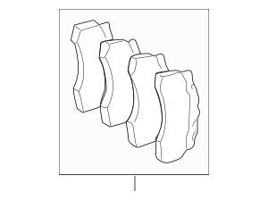 Genuine OEM Brake Pads Part# 004-420-08-20-41 Fits 2002