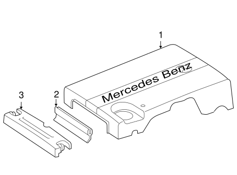 Engine Appearance Cover for 2005 Mercedes-Benz C 230
