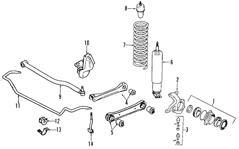 FRONT SUSPENSION for 1997 Jeep Wrangler