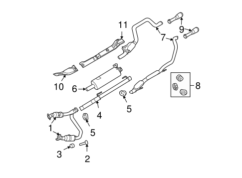 EXHAUST COMPONENTS for 2010 Dodge Ram 1500