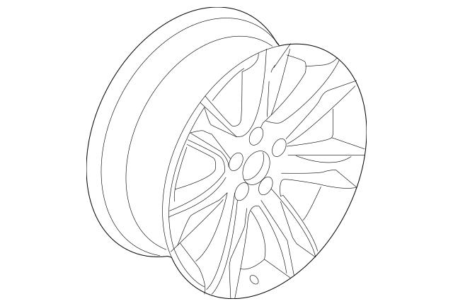 2010-2013 Acura MDX 5-DOOR Disk, Aluminum Wheel (19X8 1/2J
