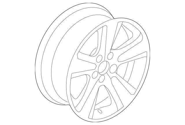 2010-2013 Acura MDX 5-DOOR Disk, Aluminum Wheel (18X8J