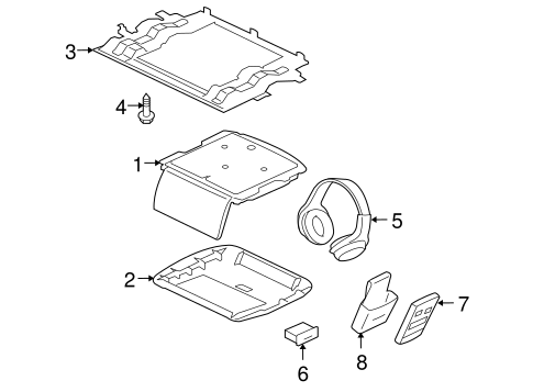 Entertainment System Components for 2008 Mitsubishi