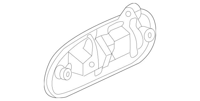 Genuine 1996-2000 Honda CIVIC SEDAN Handle Assembly, R