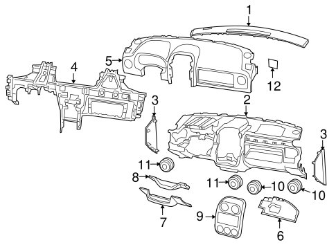 Instrument Panel Components for 2011 Jeep Patriot
