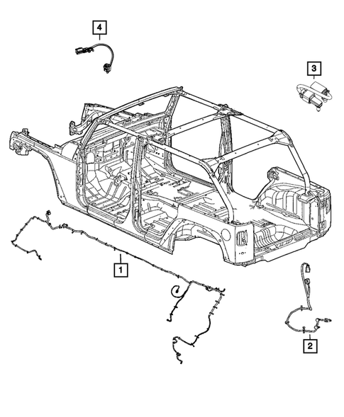 Wiring-Body and Accessories for 2016 Jeep Wrangler