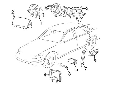 AIR BAG COMPONENTS for 2009 Mercury Grand Marquis