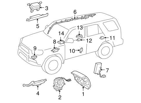 Genuine OEM Air Bag Components Parts for 2015 Toyota