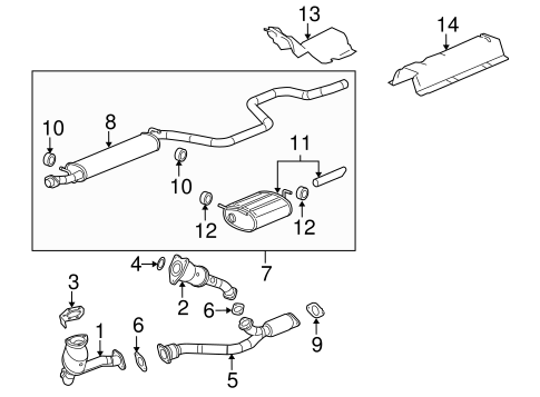 OEM 2007 Chevrolet Malibu Exhaust Components Parts