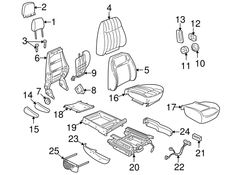 OEM FRONT SEAT COMPONENTS for 2002 Chevrolet Venture