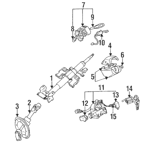 Steering Column Components for 1996 Mitsubishi Eclipse