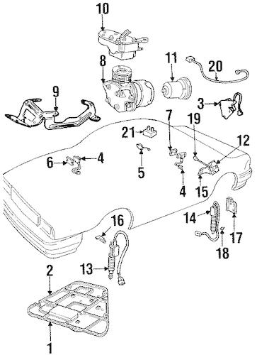 OEM 1999 Cadillac Eldorado Ride Control Components Parts