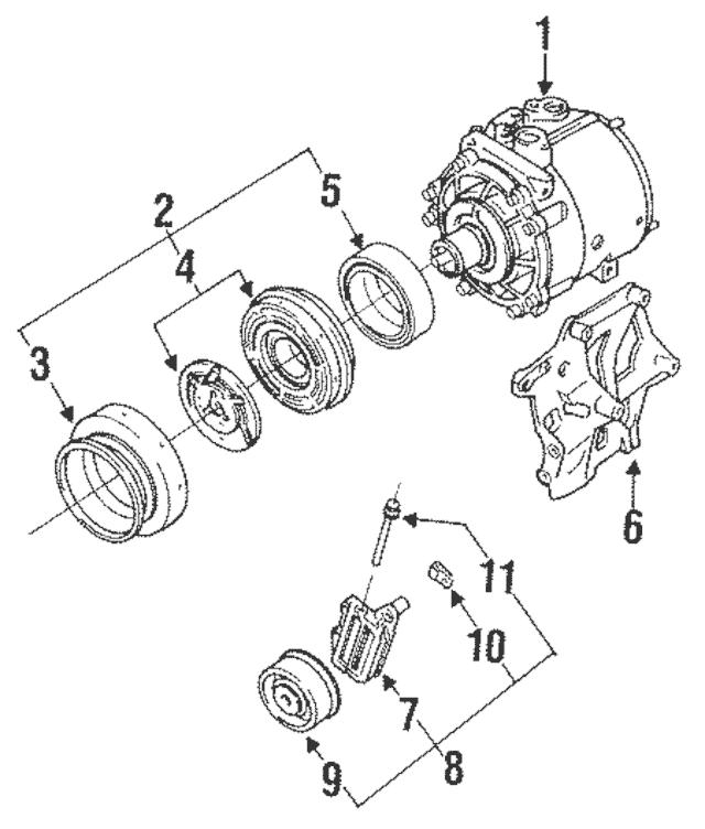 Genuine OEM Compressor Part# MB630391 Fits 1991-1996