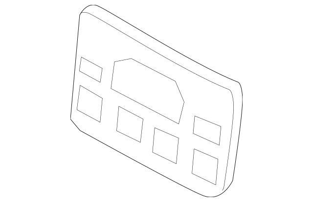 2017-2020 Acura MDX 5-DOOR Base, Front License Plate 71180