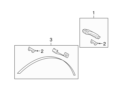 Tire Pressure Monitor Components for 2010 Ford Crown