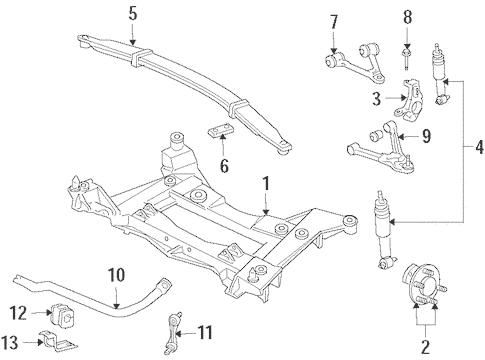 OEM 2017 Chevrolet Corvette Front Suspension Parts