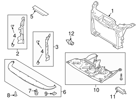 RADIATOR SUPPORT for 2013 Ford Flex