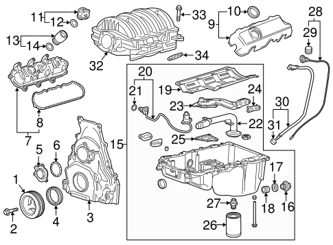 ENGINE PARTS for 2015 GMC Sierra 1500