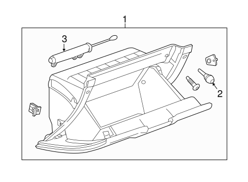 GLOVE BOX for 2015 Chevrolet Silverado 1500