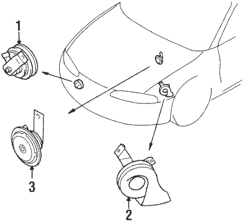 Anti-Theft Components for 1998 Mitsubishi Eclipse