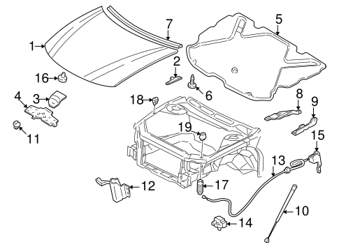 HOOD & COMPONENTS for 2002 Buick Century