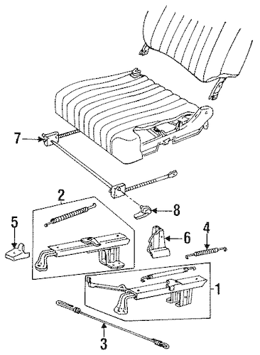 MANUAL SEAT TRACKS & COMPONENTS for 1996 Chevrolet Caprice