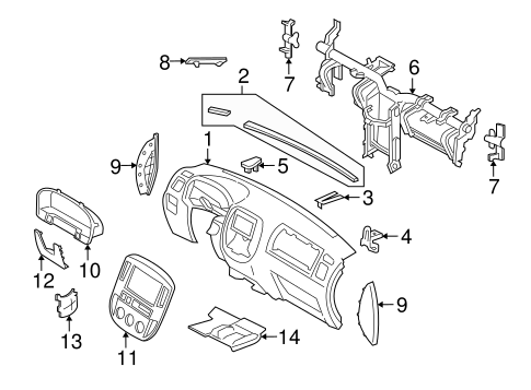 INSTRUMENT PANEL for 2007 Mercury Mariner