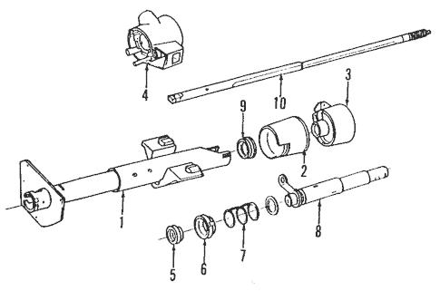 OEM Steering Column for 1991 Chevrolet Caprice