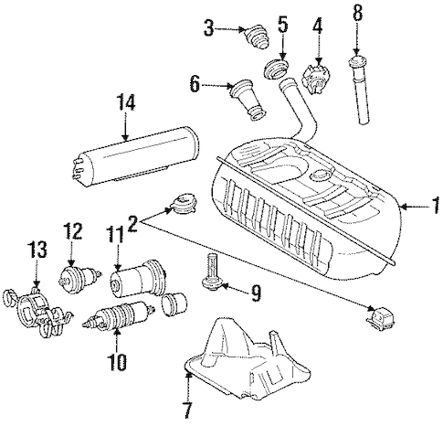 Fuel System Components for 1997 Mercedes-Benz SL 320