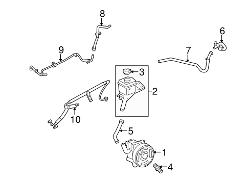 PUMP & HOSES for 2007 Ford Fusion